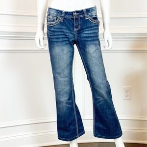 Red Camel Boot Cut Embellished Jeans in Size 9S